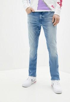 Джинсы, Guess Jeans, цвет: голубой. Артикул: GU644EMHIFQ8. Одежда / Джинсы / Прямые джинсы