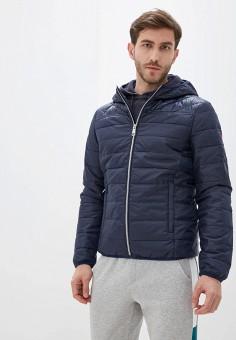 Куртка утепленная, Guess Jeans, цвет: синий. Артикул: GU644EMHSMS6. Одежда / Верхняя одежда / Демисезонные куртки