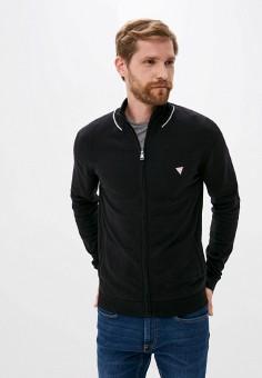 Кардиган, Guess Jeans, цвет: черный. Артикул: GU644EMJLDA1. Одежда / Джемперы, свитеры и кардиганы / Кардиганы
