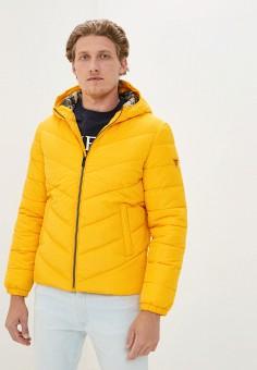 Куртка утепленная, Guess Jeans, цвет: желтый. Артикул: GU644EMJLDB6. Одежда / Верхняя одежда / Демисезонные куртки