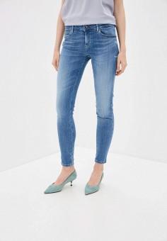 Джинсы, Guess Jeans, цвет: голубой. Артикул: GU644EWHMHY4. Одежда / Джинсы / Узкие джинсы