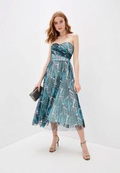 Платье, Guess Jeans, цвет: бирюзовый. Артикул: GU644EWHMIH0. Одежда / Платья и сарафаны / Вечерние платья