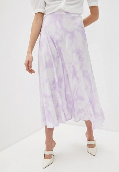 Юбка, Guess Jeans, цвет: фиолетовый. Артикул: GU644EWJEEW2. Одежда / Юбки