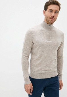 Джемпер, Hackett London, цвет: бежевый. Артикул: HA024EMKCOY5. Одежда / Джемперы, свитеры и кардиганы / Джемперы и пуловеры