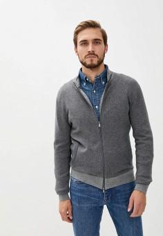 Кардиган, Hackett London, цвет: серый. Артикул: HA024EMKCOY7. Одежда / Джемперы, свитеры и кардиганы / Кардиганы