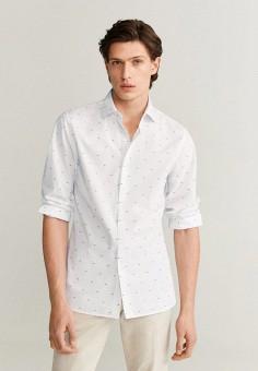 Рубашка, Mango Man, цвет: белый. Артикул: HE002EMIEFI9.