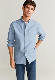 Рубашка, Mango Man, цвет: синий. Артикул: HE002EMIEFQ0.