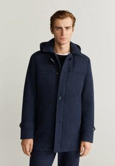 Пальто, Mango Man, цвет: синий. Артикул: HE002EMIEFR8. Одежда / Верхняя одежда / Пальто