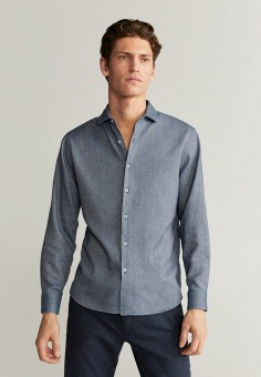 Рубашка, Mango Man, цвет: голубой. Артикул: HE002EMIEFT1.