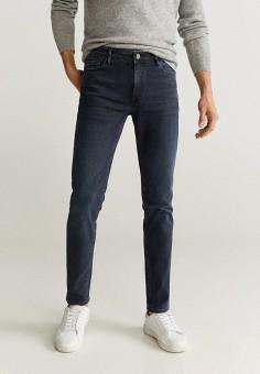 Джинсы, Mango Man, цвет: синий. Артикул: HE002EMIEGF3. Одежда / Джинсы / Зауженные джинсы