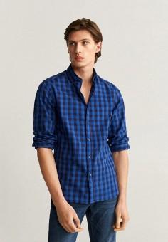 Рубашка, Mango Man, цвет: синий. Артикул: HE002EMIIOV5.