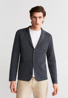 Кардиган, Mango Man, цвет: серый. Артикул: HE002EMIJNC8. Одежда / Джемперы, свитеры и кардиганы / Кардиганы