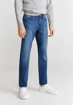 Джинсы, Mango Man, цвет: синий. Артикул: HE002EMIJNQ2. Одежда / Джинсы / Прямые джинсы