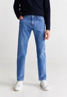 Джинсы, Mango Man, цвет: синий. Артикул: HE002EMIJNR0. Одежда / Джинсы / Прямые джинсы