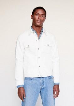 Куртка джинсовая, Mango Man, цвет: белый. Артикул: HE002EMIRKA9.