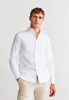 Рубашка, Mango Man, цвет: белый. Артикул: HE002EMIRKB3. Одежда / Рубашки / Рубашки с длинным рукавом