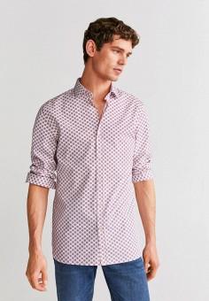 Рубашка, Mango Man, цвет: розовый. Артикул: HE002EMIRKD0.