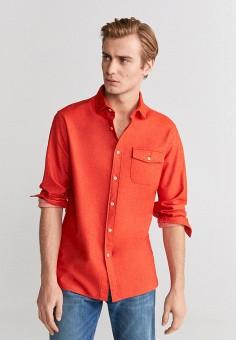 Рубашка, Mango Man, цвет: коралловый. Артикул: HE002EMIRKP3.