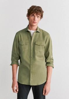 Рубашка, Mango Man, цвет: зеленый. Артикул: HE002EMIRKU7.