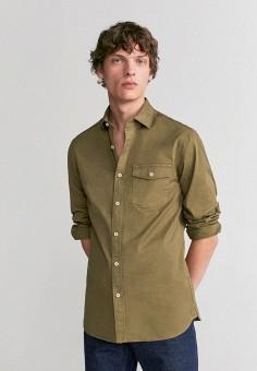 Рубашка, Mango Man, цвет: хаки. Артикул: HE002EMIRKU8.