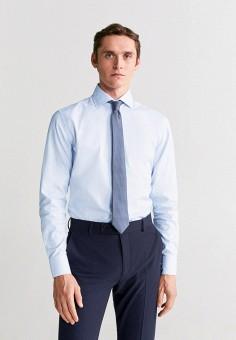 Рубашка, Mango Man, цвет: голубой. Артикул: HE002EMIRKZ6.