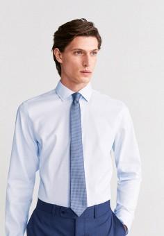 Рубашка, Mango Man, цвет: голубой. Артикул: HE002EMIRKZ7. Одежда / Рубашки / Рубашки с длинным рукавом