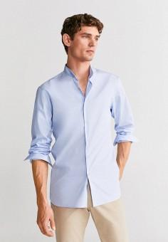 Рубашка, Mango Man, цвет: голубой. Артикул: HE002EMIRLA2.