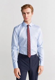 Рубашка, Mango Man, цвет: голубой. Артикул: HE002EMIRLB3. Одежда / Рубашки / Рубашки с длинным рукавом