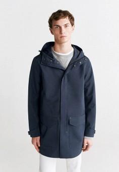Куртка, Mango Man, цвет: синий. Артикул: HE002EMISEM7. Одежда / Верхняя одежда / Легкие куртки и ветровки