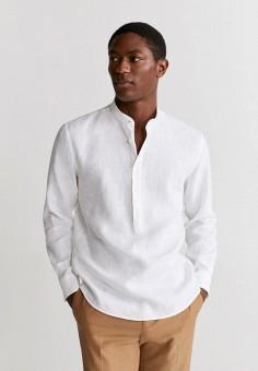 Рубашка, Mango Man, цвет: белый. Артикул: HE002EMIUWA2.