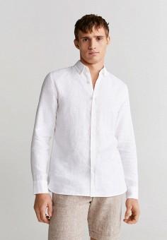 Рубашка, Mango Man, цвет: белый. Артикул: HE002EMIUWA4.