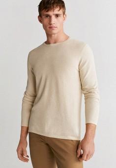 Джемпер, Mango Man, цвет: бежевый. Артикул: HE002EMIUWN0. Одежда / Джемперы, свитеры и кардиганы / Джемперы и пуловеры