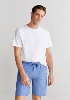 Пижама, Mango Man, цвет: белый, синий. Артикул: HE002EMIUXD7. Одежда / Домашняя одежда