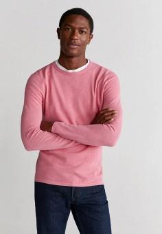 Джемпер, Mango Man, цвет: розовый. Артикул: HE002EMIUXY9. Одежда / Джемперы, свитеры и кардиганы / Джемперы и пуловеры