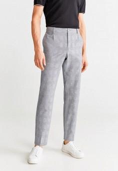 Брюки, Mango Man, цвет: серый. Артикул: HE002EMIWVD1. Одежда / Брюки