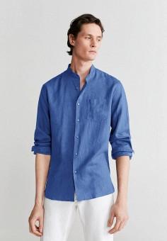 Рубашка, Mango Man, цвет: синий. Артикул: HE002EMIZZE2.