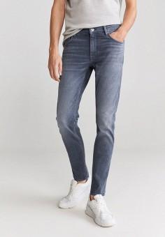Джинсы, Mango Man, цвет: серый. Артикул: HE002EMJIZU5. Одежда / Джинсы / Зауженные джинсы