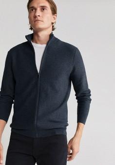 Кардиган, Mango Man, цвет: серый. Артикул: HE002EMJYRN3. Одежда / Джемперы, свитеры и кардиганы / Кардиганы