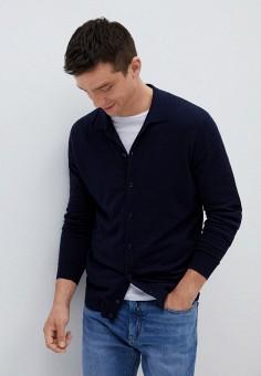 Кардиган, Mango Man, цвет: синий. Артикул: HE002EMKCIE5. Одежда / Джемперы, свитеры и кардиганы / Кардиганы