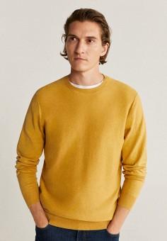 Джемпер, Mango Man, цвет: желтый. Артикул: HE002EMKCUM5. Одежда