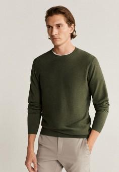 Джемпер, Mango Man, цвет: зеленый. Артикул: HE002EMKCUO7. Одежда
