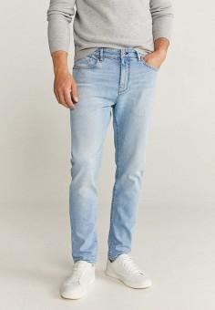 Джинсы, Mango Man, цвет: голубой. Артикул: HE002EMKCVK3. Одежда / Джинсы / Зауженные джинсы