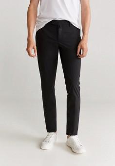 Брюки, Mango Man, цвет: черный. Артикул: HE002EMKEXQ8. Одежда / Брюки / Повседневные брюки