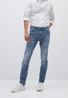 Джинсы, Mango Man, цвет: голубой. Артикул: HE002EMKEXR2. Одежда / Джинсы / Зауженные джинсы