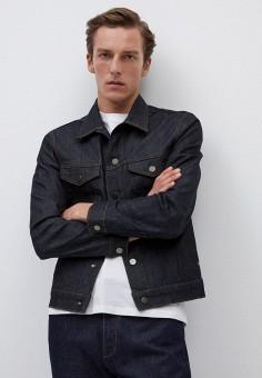 Куртка джинсовая, Mango Man, цвет: синий. Артикул: HE002EMKEYC9. Одежда / Верхняя одежда / Джинсовые куртки