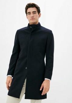 Пальто, Mango Man, цвет: синий. Артикул: HE002EMKIDR9. Одежда / Верхняя одежда / Пальто