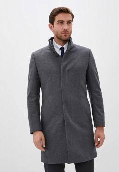 Пальто, Mango Man, цвет: серый. Артикул: HE002EMKIED7. Одежда / Верхняя одежда / Пальто
