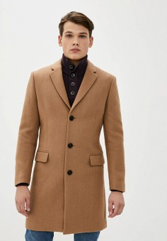 Пальто, Mango Man, цвет: бежевый. Артикул: HE002EMKIJD1. Одежда / Верхняя одежда / Пальто