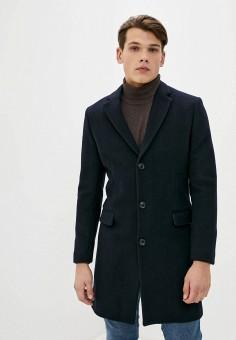 Пальто, Mango Man, цвет: синий. Артикул: HE002EMKKDW7. Одежда / Верхняя одежда / Пальто