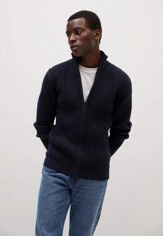 Кардиган, Mango Man, цвет: синий. Артикул: HE002EMKLGY7. Одежда / Джемперы, свитеры и кардиганы / Кардиганы